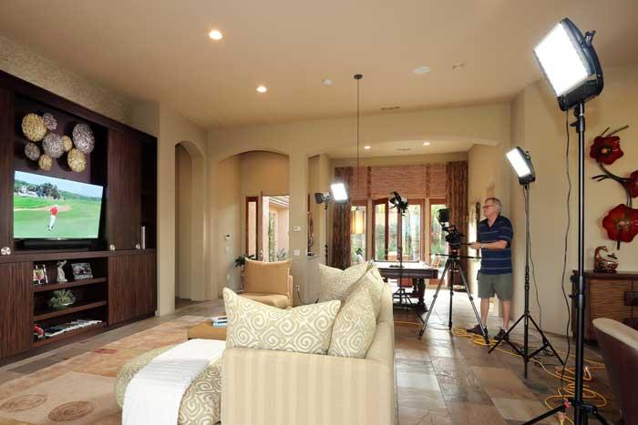 Bill Dettman Video Shoot Lights 700x467 1 Palm Springs Real Estate