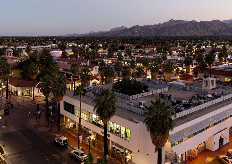 Kimpton Palm Springs California 4 Saints Restaurant Bar Rooftop City Views Palm Springs Real Estate